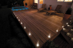 LED composite decking