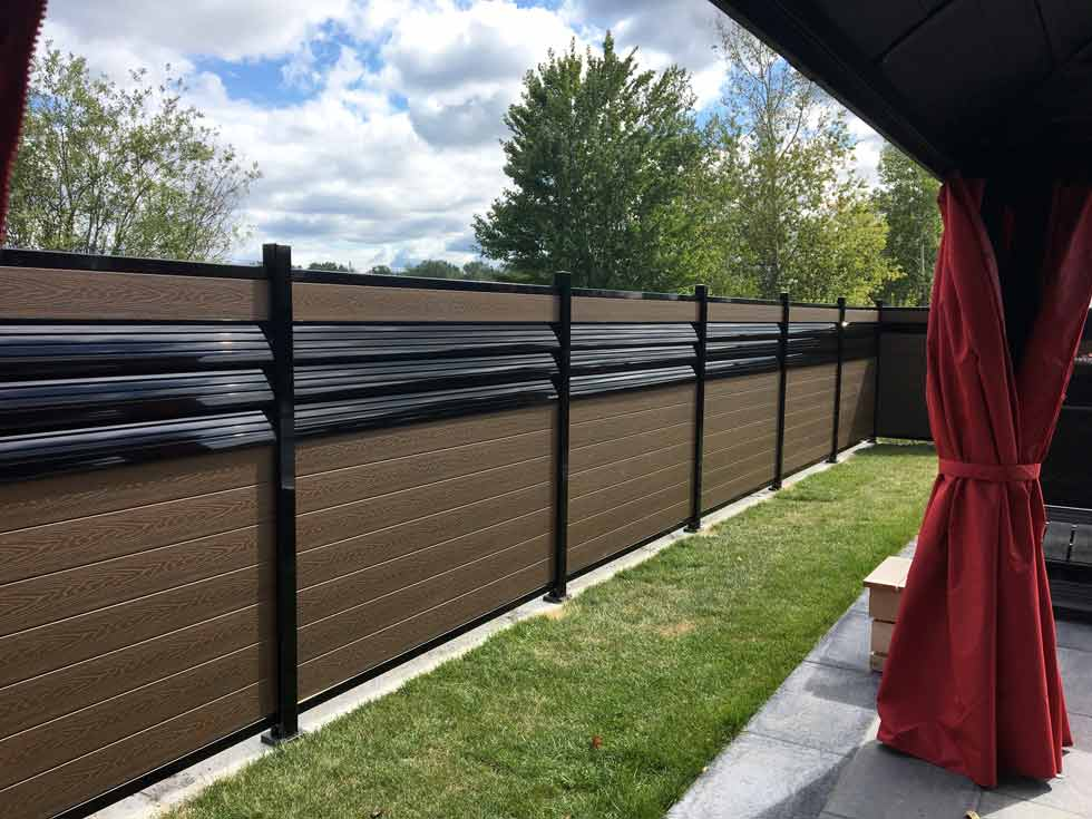 Composite Fencing Ezfence Composite Board And Aluminium