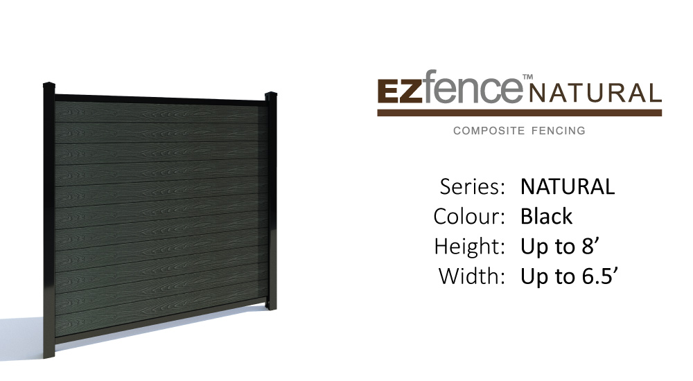 composite+fence+ezfence+natural+Black