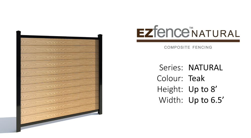 composite+fence+ezfence+natural+teak