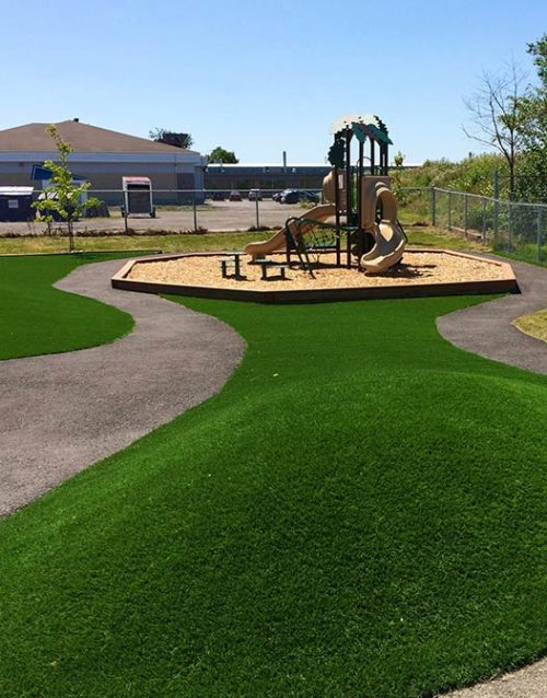 Paradise-artificial-grass-turf-landscaping-playground-gym-USA-California-Canada-Vancouver-Calgary