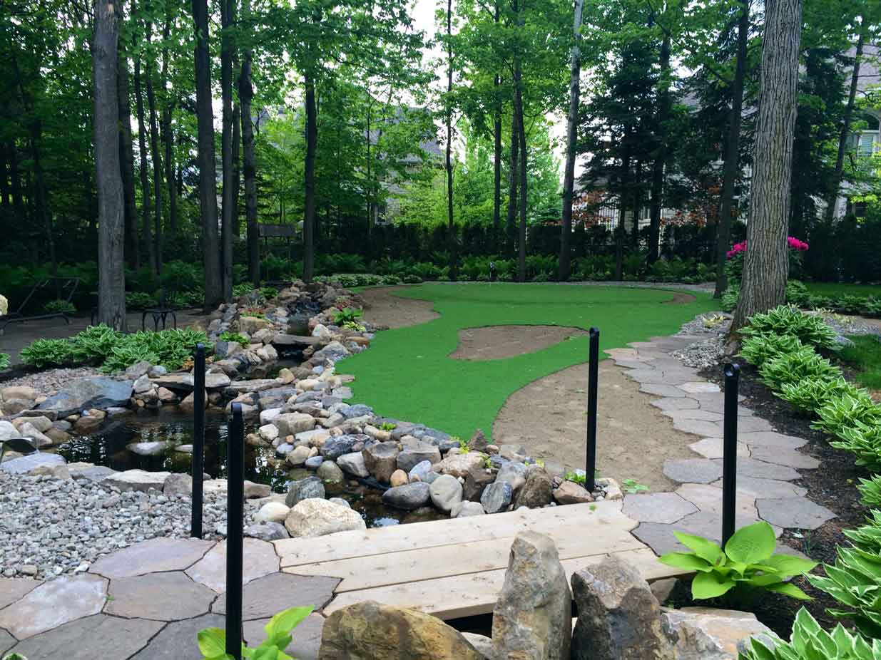 Backyard Putting Green In Artificial Grass Synthetic Turf