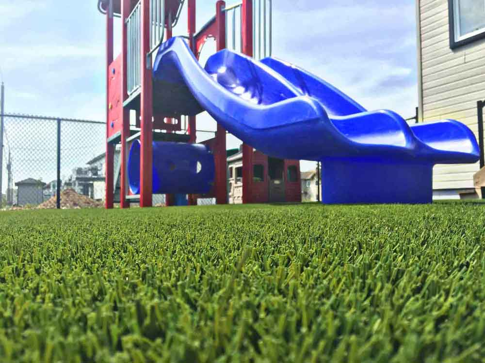 artificial grass playground area