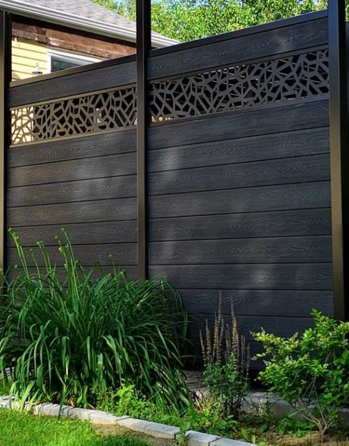 inspiration get inspired Openwork-molding-fence-design-panel-inspiration-decoration-stone-style-black-aluminum-composite-canada-alberta-calgary