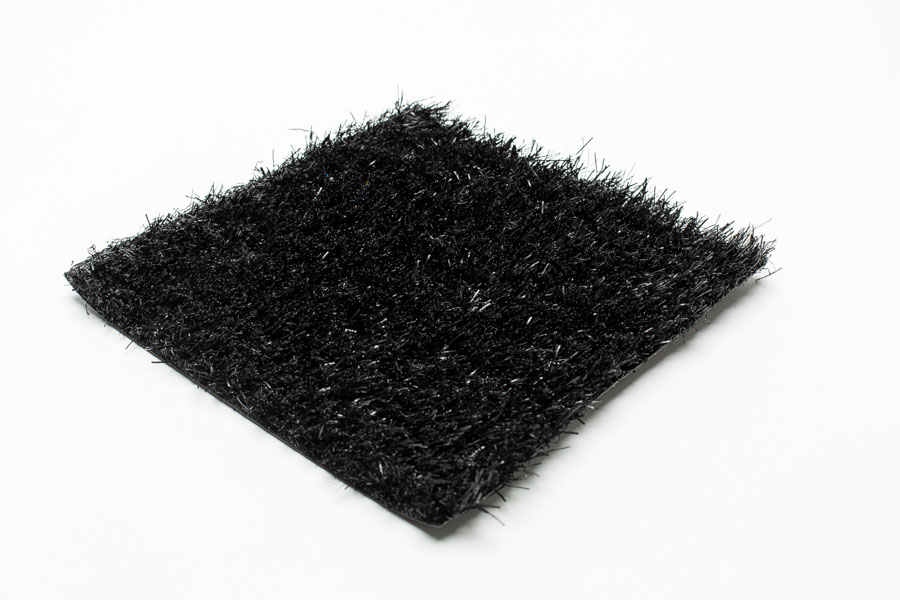black artificial grass