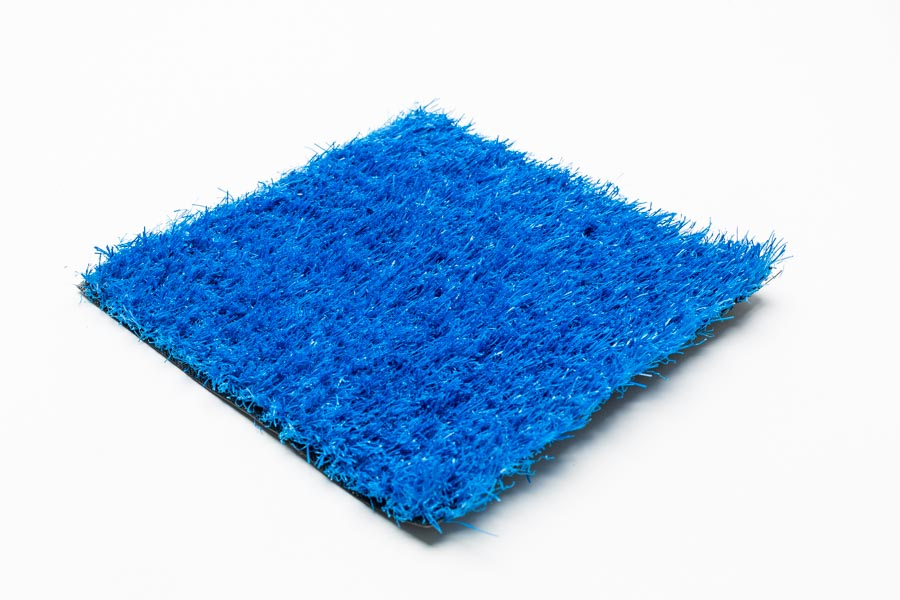 blue artificial grass