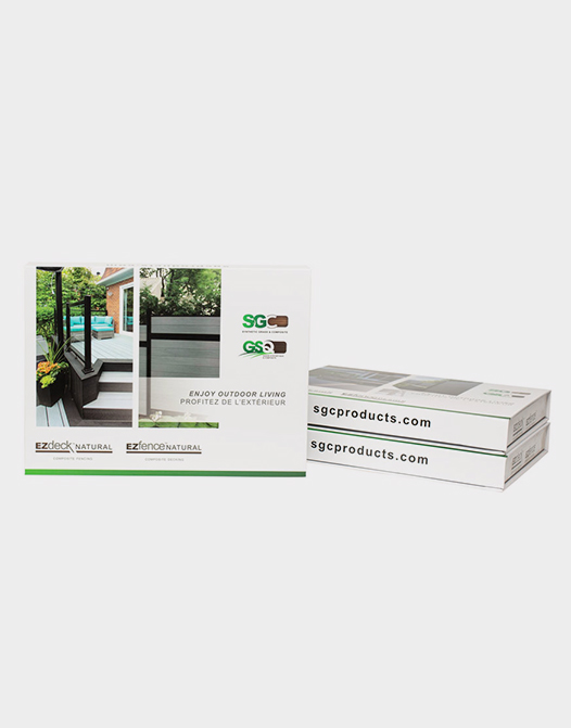 composite wood samples kit marketing-book-samples-box-natural-fence-deck-boards