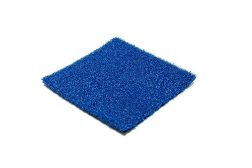 blue syntehtic turf