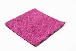 pink artificial grass