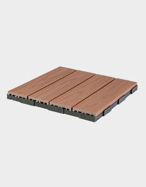 Interlocking floor tiles Ezclip-deck-tile-elite-natural-terrasse-patio-outdoor-design-flooring-USA-Canada-backing-composite-plastic-Photo-decoration1