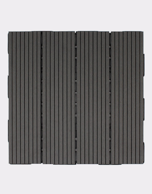 Interlocking tiles charcoal-tile-design-application--top-view-outdoor-space-patio-terrace-removable-solid-composite-plastic-long-lasting-easy-to-install