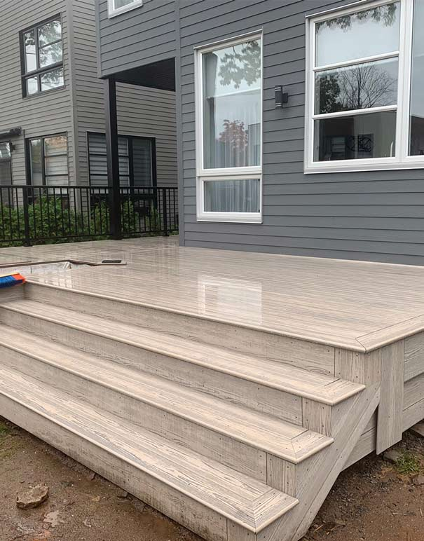 how to install a composite deck
