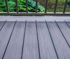 composite deck in light grey colour available in Mississauga Toronto Kingston and Winnipeg