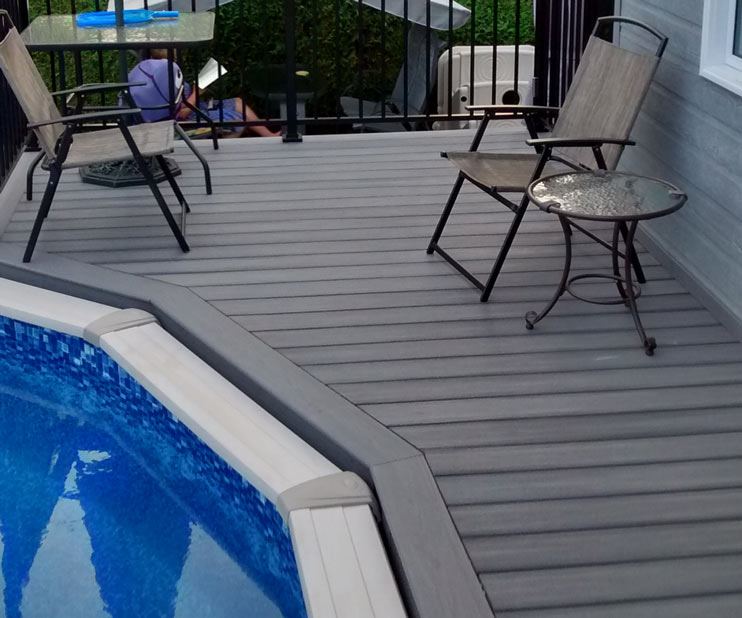 pool deck in moon grey inspirational idea on how to install a composite deck