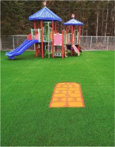 playground turf artificial grass playground area