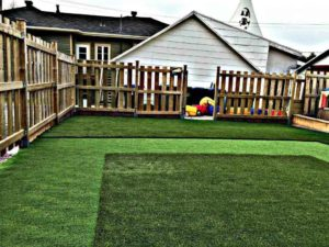 kindergarten outdoor playground with artificial grass vancouver