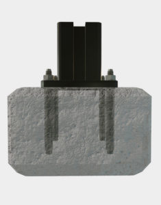 Concrete-Anchor-Screw-for-composite-fence-installation-post-on-concrete-ground
