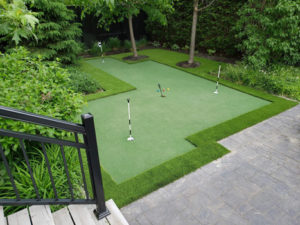 putting green golf area