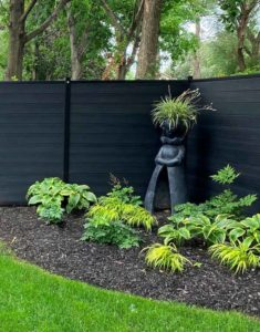 Privacy Wall fence black canada budget friendly