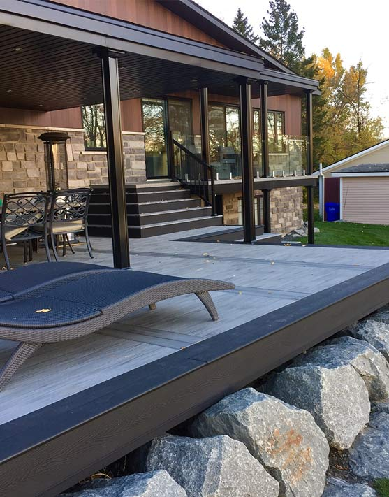 stone-grey-deck-boards-black-framing-decking-planks-ontario-alberta-saskatoon-regina