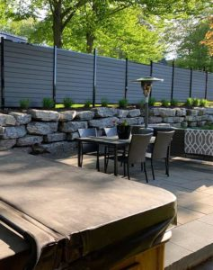 charcoal-boards-fence-outdoor-resistant-canadian-weather-frost-moisture-mildew-no-painting-heat-charcoal-dark-black-design-garden-privacy-noisy-neighbours-fence-panel-available-in-canada-kit-fence
