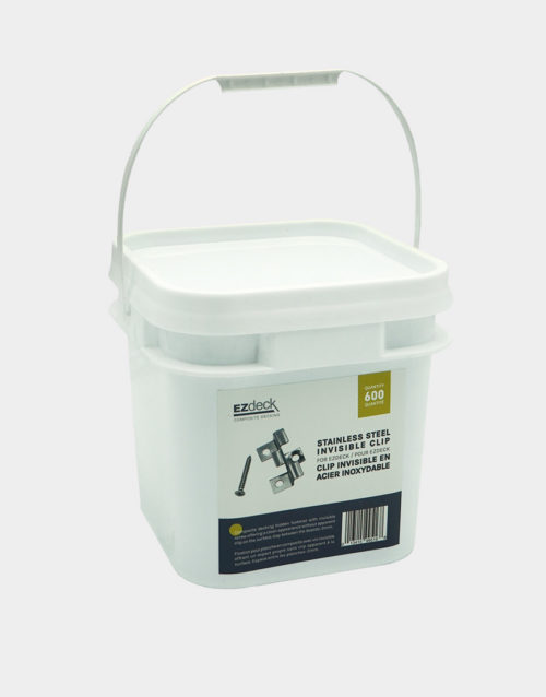 bucket-of--600-composite-deck-board-clips-stainless-steel-toronto-vancouver