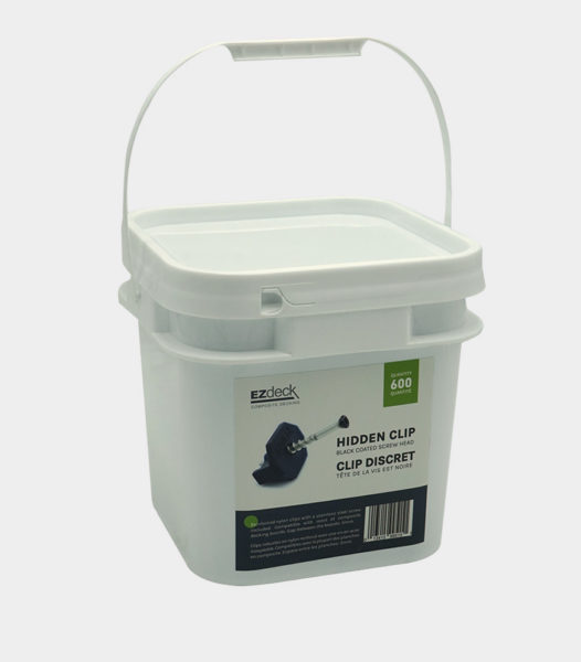 bucket-of-600-nylon-clips-with-100-screws-SGC-compatible-with-ezdeck-boards-and-trex-boards composite decking fasteners