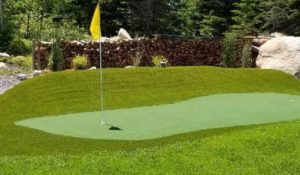 Artificial Grass golf course landscaping project