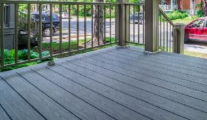 Composite decking porch balcony stairs finishing boards