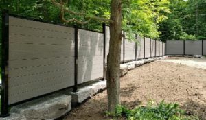 Composite fencing outdoor screening privacy