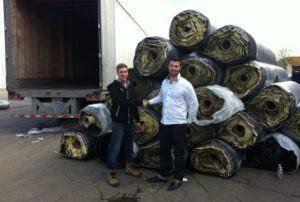 purchasing first rolls of artificial grass