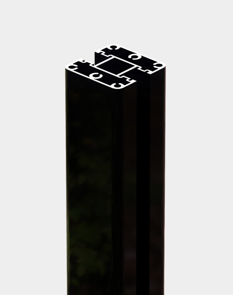 High-strength-post-black-chrome for fencing structure durable 9 feet height