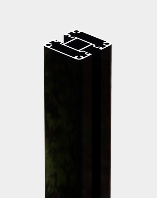 Line-post-black-chrome-for fencing aluminum structure durable and weather resistant available in Canada