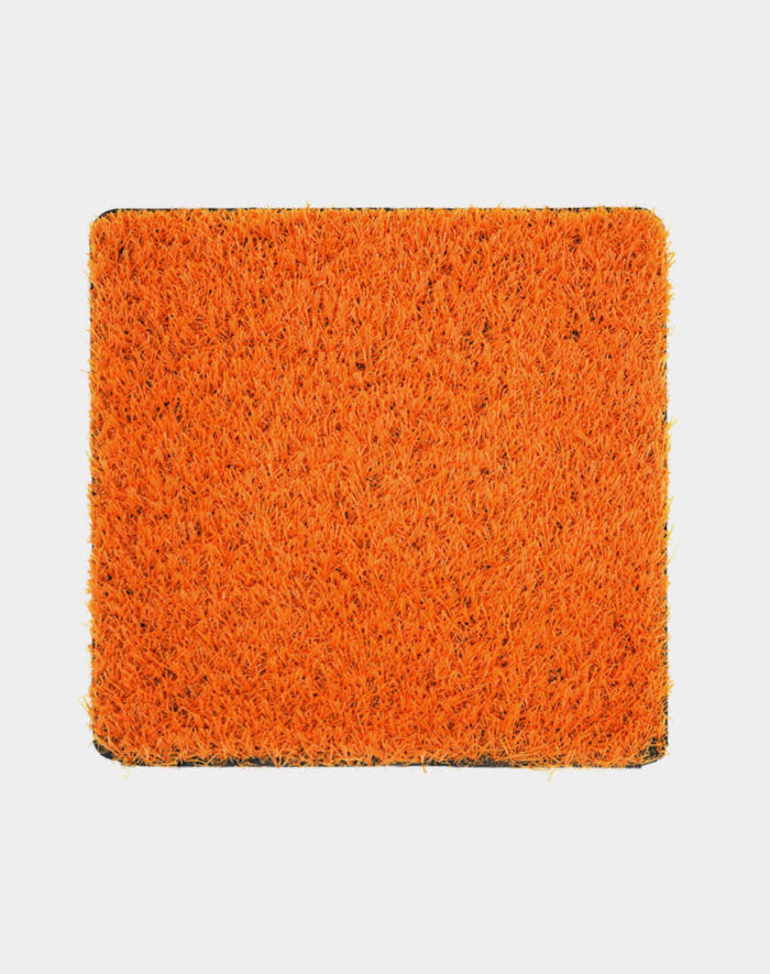Orange-turf-coloured artificial grass for playgrounds and events available in 6 feet width in Toronto vancouver ottawa