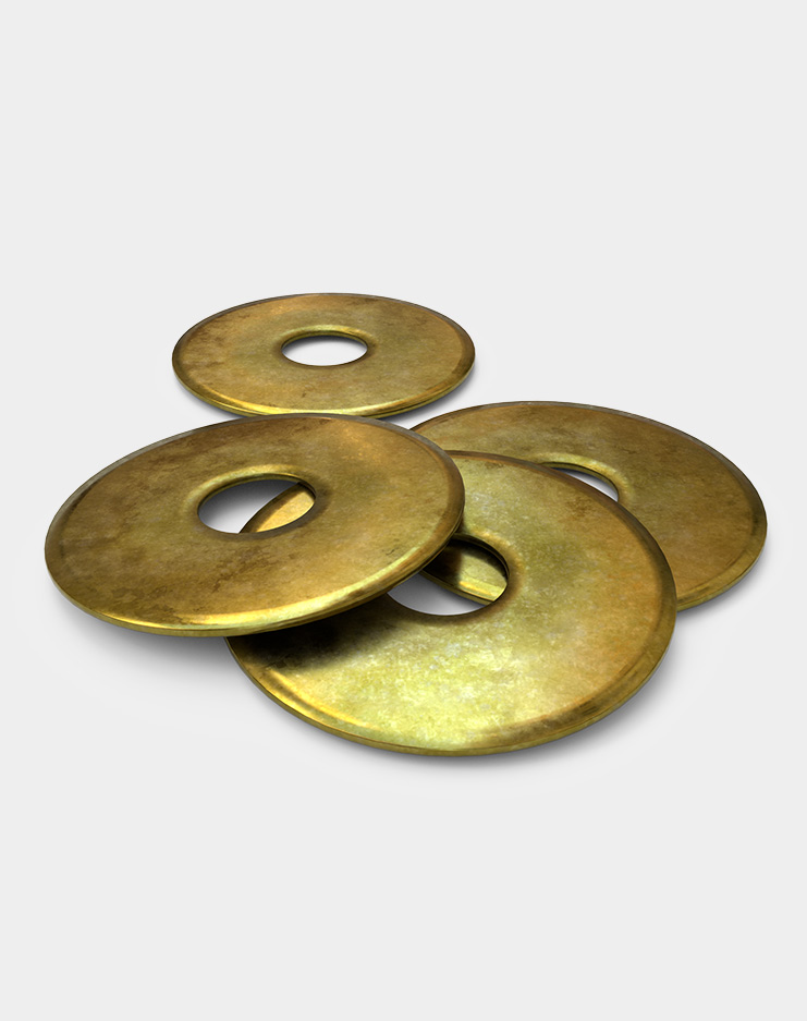 Washers for aluminum post